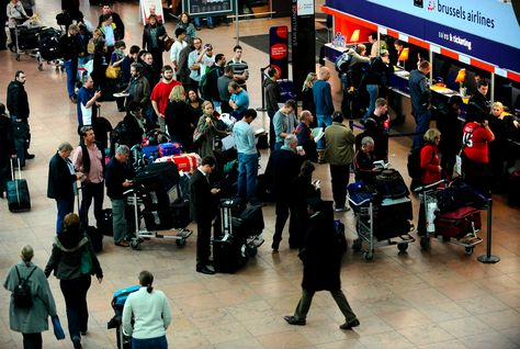 Airlines across Europe have been hit by delays as the continent faces severe weather conditions. (AFP/Getty Images)